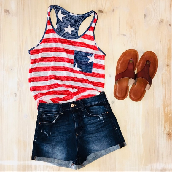 1a56811a0bd Flag print 4th of July Tank! Made in the USA